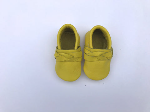 Braided Moccasin in Lemon
