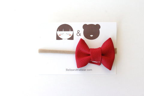 Classic Bow headband in Red