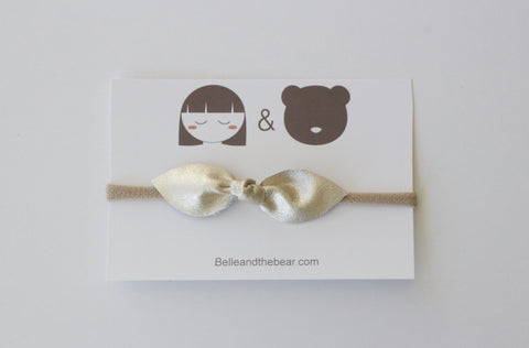 Bow headband in Platinum