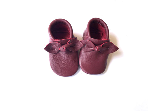 Bow Moccasin in Burgundy