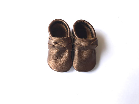 Bronze Braided Moccasin