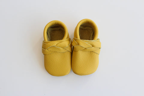 Braided Moccasin in Saffron yellow