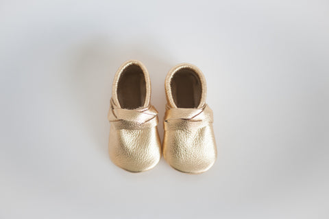 Gold Braided or Bow Moccasin