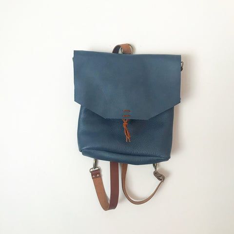 Convertible backpack / crossbody in Navy