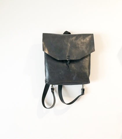 Convertible backpack / crossbody in Black