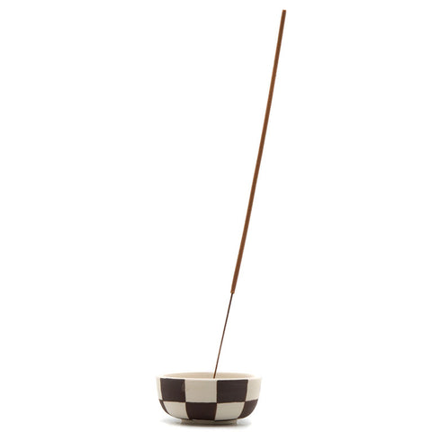 Mellow - Gemini Vase - Brown Checker