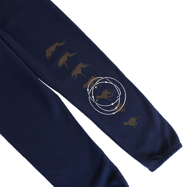 "ALL CAPS STUDIO - ""We Believe!"" Sweatpants - Navy"