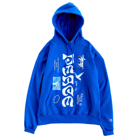 ALL CAPS STUDIO - Lumumba Hooded Sweatshirt - Royal Blue