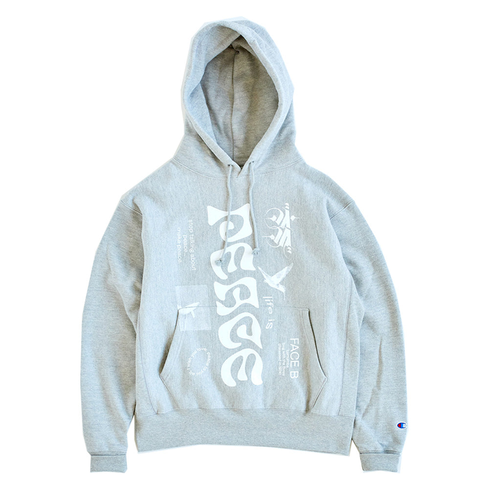 Allcaps Studio - Lumumba Hooded Sweatshirt - Oxford Grey