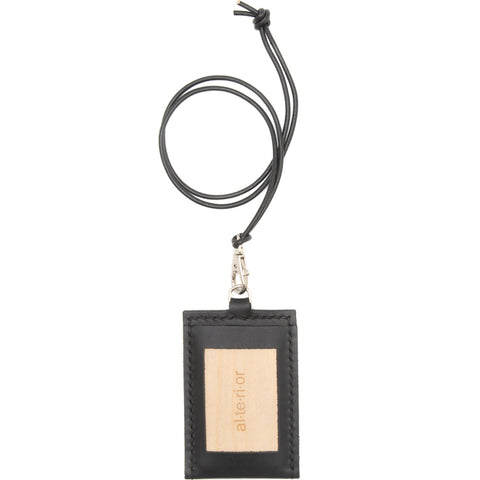 PR-022 - Card Necklace - Black