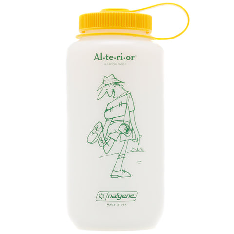 Jam for Alterior - 32 Oz Nalgene Bottle Wide Mouth - HDPE Frosted - Yellow