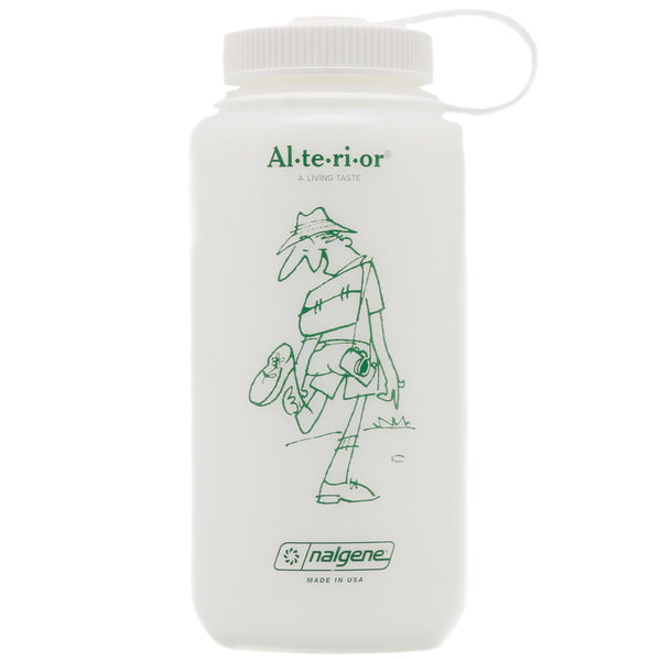 Jam for Alterior - 32 Oz Nalgene Bottle Wide Mouth - HDPE Frosted - White