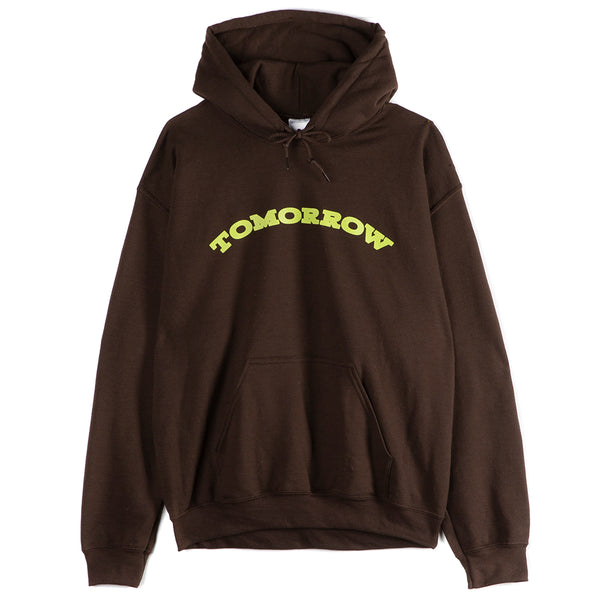Tomorrow Store - Logo Hooded Pullover - Brown