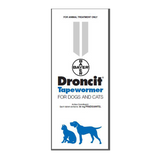 Droncit Tapewormer for Dogs and Cats (100 Tablets)