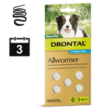 Drontal Allwormer Dog Tablets (3 month auto delivery)