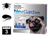 NexGard Chewables for Dogs  - 3 pack (3 month auto delivery)