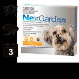 NexGard Chewables for Dogs  - 3 pack (3 month auto delivery) + BONUS MONTH