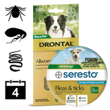 Dog tick, flea & worm package 2 (4 month auto delivery)