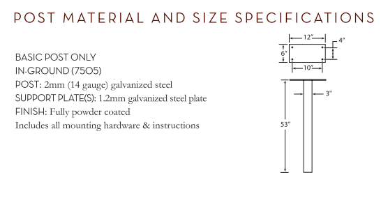 Basic Post Size Specification