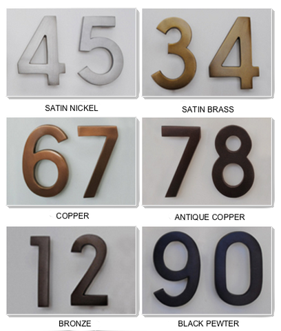 Ecco E4 metal house numbers