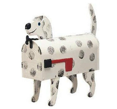 Dalmation Dog Novelty Post Mount Mailbox by More Than A Mailbox 1021