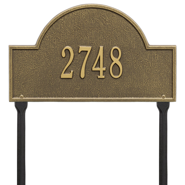 Whitehall Arch Marker Standard Lawn Address Plaque (One Line) 1105AB