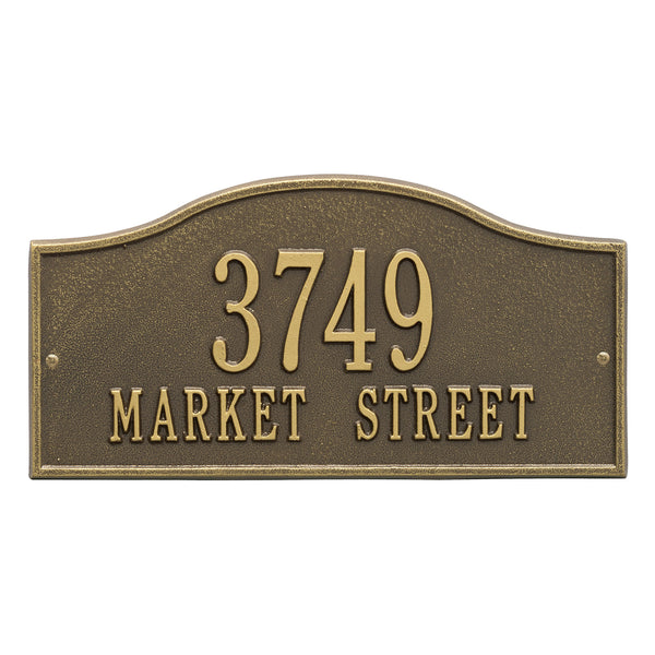 Whitehall Rolling Hills Standard Wall Address Plaque (Two Line) 1118AB