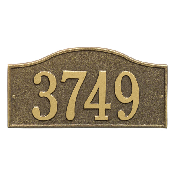 Whitehall Rolling Hills Standard Wall Address Plaque (One Line) 1120AB