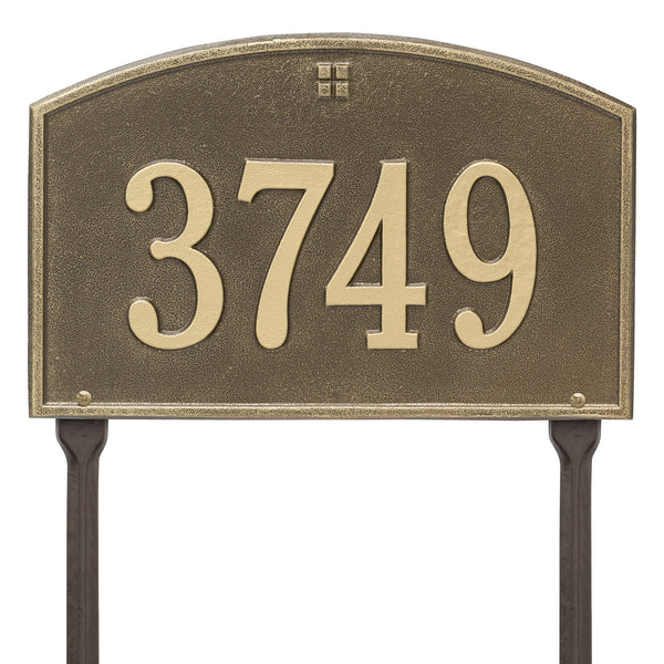 Whitehall Cape Charles Standard Lawn Yard Address Plaque (One Line) 1177AB