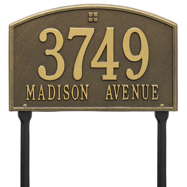 Whitehall Cape Charles Standard Lawn Yard Address Plaque (Two Line) 1178AB