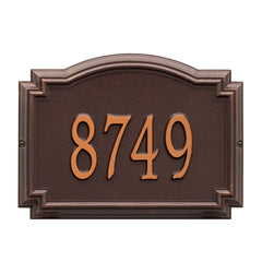 Whitehall Williamsburg Standard Wall Address Plaque (One Line)