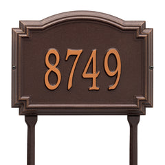 Whitehall Williamsburg Standard Lawn Address Plaque (One Line)