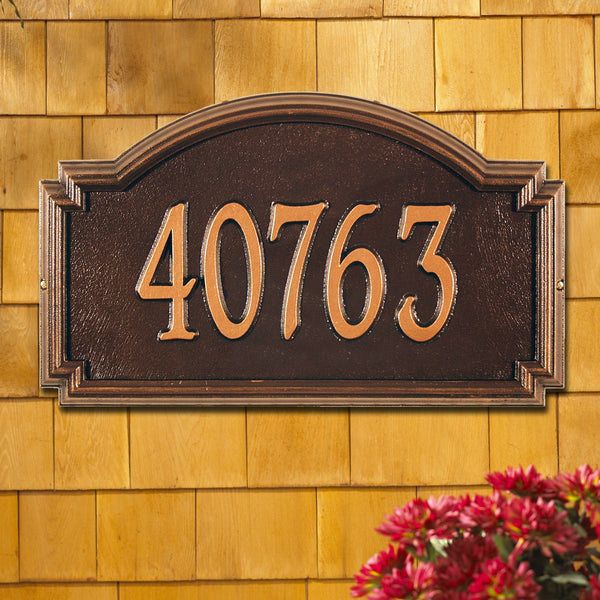 Whitehall Williamsburg Estate Wall Address Plaque (One Line) 1294AC