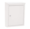 Soho White Locking Wall Mount Mailbox