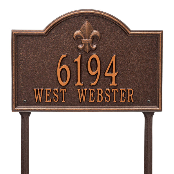 Whitehall Bayou Vista Standard Lawn Address Plaque (Two Line) 2846AC