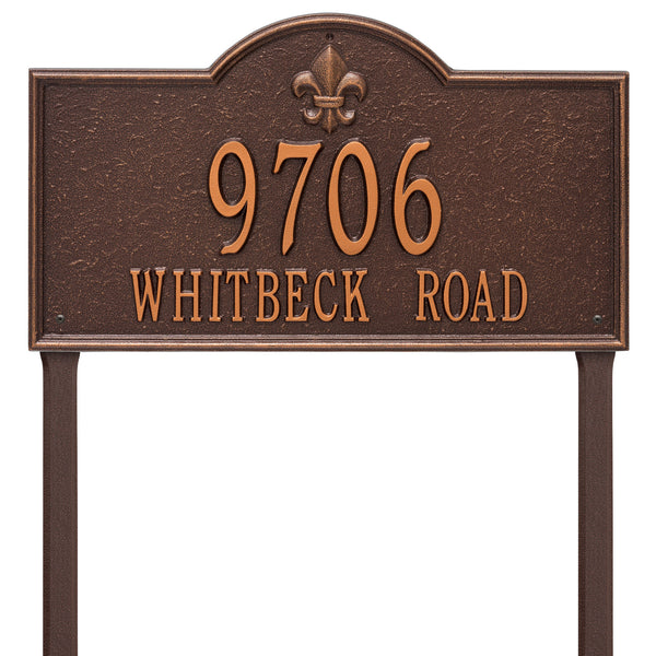 Whitehall Bayou Vista Estate Lawn Address Plaque (Two Line)  2848AC