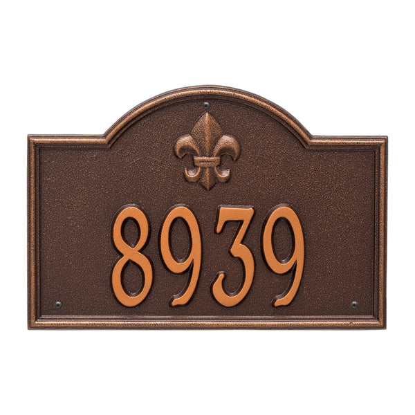 Whitehall Bayou Vista Standard Wall Address Plaque (One Line) 2858AC