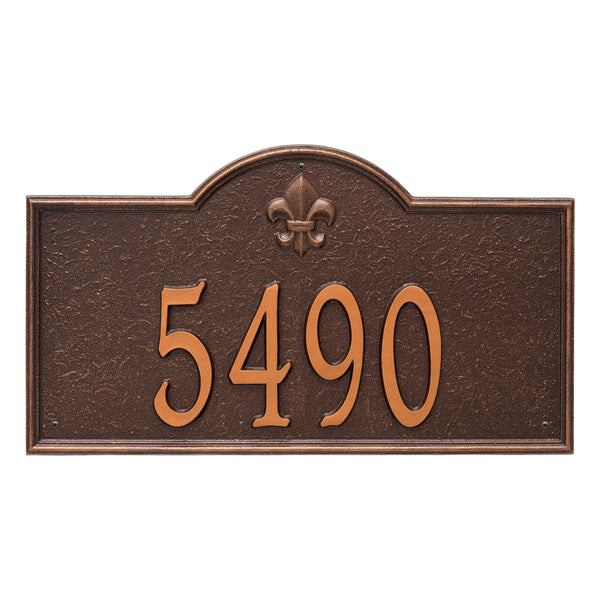 Whitehall Bayou Vista Estate Wall Address Plaque (One Line) 2860AC