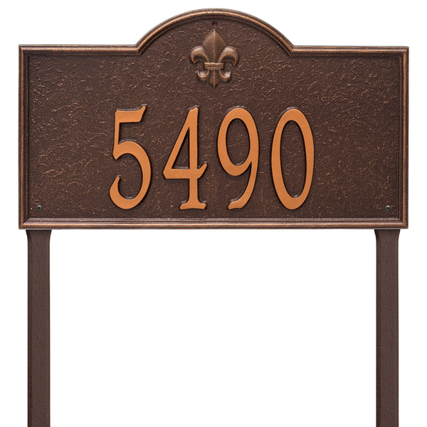 Whitehall Bayou Vista Estate Lawn Address Plaque (One Line) 2861AC