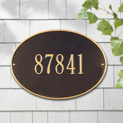 Whitehall  Hawthorne Oval Standard Wall Address Plaque (One Line)