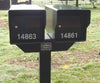 Fort Knox 2 T Mailbox Post Black with standard mailboxes