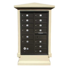 Qualarc - Stucco Short Pedestal CBU Column Mailbox Center Column