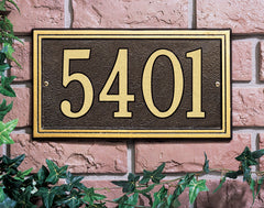 Whitehall Double Line Standard Wall Address Plaque (One Line)