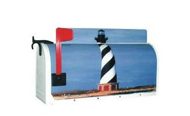 Lighthouse Post Mount Novelty Mailbox By More Than A Mailbox 7002