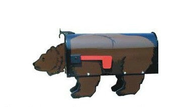 Brown Bear Mailbox Post Mount