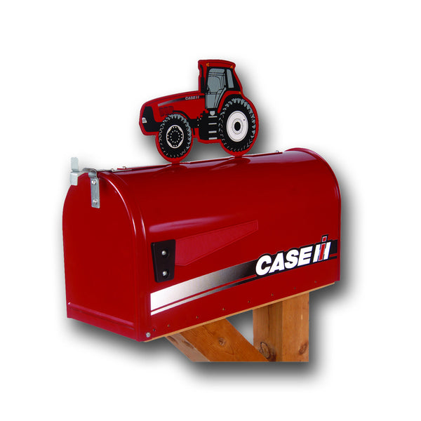 Case IH Rural Post Mount Mailbox with Tractor Topper RMB-CHI220