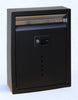 Ecco E10BK Mailbox Stainless Steel Locking Mailbox Large Black