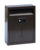 Ecco E10BZ Mailbox Satin Stainless Steel Locking Mailbox Large Bronze