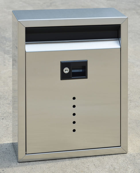 Ecco E10 Mailbox Satin Stainless Steel Locking Mailbox Large