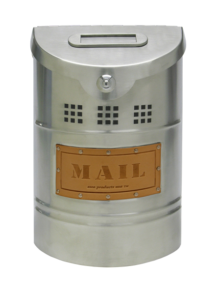 Ecco E1 Stainless Steel Mailbox Brushed Leather E1X